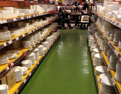 vloer supermarkt