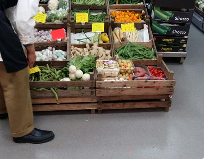 vloer groentewinkel