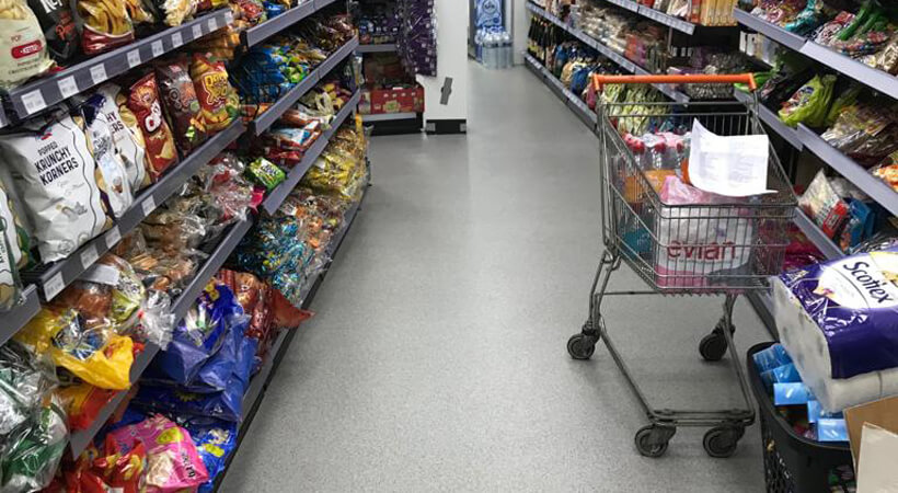 gietvloer supermarkt